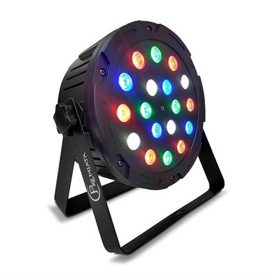 Par led 18X5 Watts, RGBW Led Ultra-Brillante, Programación integrada 8 canales DMX 512 LED