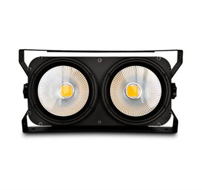 BLINDER LED 2 X 100 WATTS, BLANCO CALIDO, BLANCO FRIO,Panel ,Programación integrada 8 canales DMX512 LED