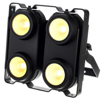 BLINDER LED 4 X 100 WATTS, 4 EN 1 RGBW, Panel ,Programación integrada 8 canales DMX512 LED. Gran sistema de mezcla de colores RGBW