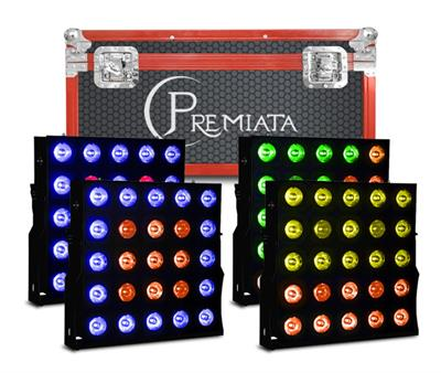 CASE 4 EN 1 MATRIX LED 25X 10 Watts, 4 EN 1, RGBW, Panel ,Programación integrada 7 canales DMX512