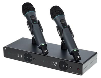 XS Wireless 1 DUAL is a 2-channel wireless system for singers and presenters. Designed with ease of use in mind, these analog UHF systems feature a sleek dual-channel receiver with built-in antennas and the streamlined interface from Sennheiser's popular XS Wireless 1 series.