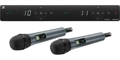2-channel wireless system for singers and presenters. Stable UHF band, built-in antennas and streamlined interface with great live sound.